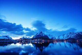 sunset  in Reine Village, Lofoten Islands, Norway.jpeg